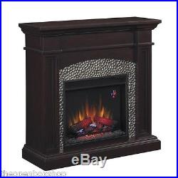 Hampton Bay Culver 42 in. Hammered Insert Electric Fireplace espresso