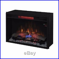 Home 26-In Electric Infrared Quartz Flush-Mount Fireplace Insert Heater Trim Kit