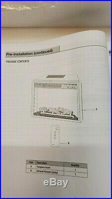 Home Decorators 59 Infrared Media Electric Fireplace Insert 1003054956