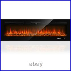 Home Electric Fireplace Recessed Insert or Wall Mounted Standing Electric Heater
