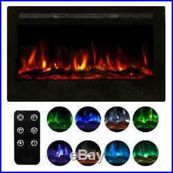 Homedex 36 Recessed Mounted Electric Fireplace Insert with Touch Screen Cont