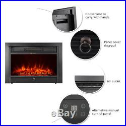 IKAYAA Electric Fireplace Insert Heater Remote Control Adjust LED Setting H4Z4