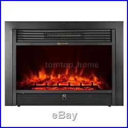 IKAYAA Embedded Electric Fireplace Insert Heater Glass View Remote Control N4R3