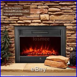 IKAYAA Embedded Electric Insert Heater Fireplace Remote Adjust Temperature P9J0