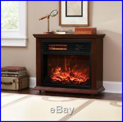 Indoor Electric Fireplace Fake Fireplace Heater Faux Insert Tv Stand Wood Screen