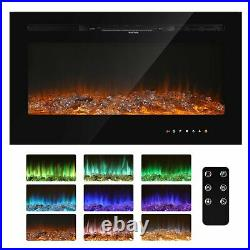 Indoor Electric Fireplace Recessed insert Wall Mounted Standing Electric Heater
