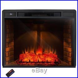 Indoor Fireplace Insert Heater Living Room Electric Adjustable Remote Bedroom