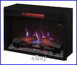 Infrared Quartz Space Heater Electric Fireplace Insert with Safer Plug 26