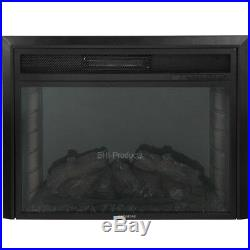 Insert/Free Stand Electric Fireplace box Heater Fan 1500W 28'' Remote Log Flames