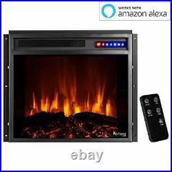 Jackson 25x21 LED Electric Fireplace Stove Insert 25 x 21 Insert Black