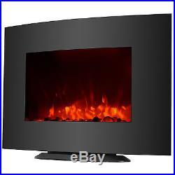KUPPET Insert Wall Mount Free Stand Electric Fireplace Heater Cobblestone Fire