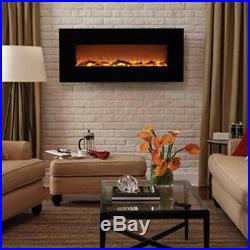 LED Fake Fireplace Hanging Space Heater Lg Wall Unit Insert Kit Electric 1500W