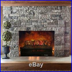 LOKATSE HOME 23 Electric Fireplace Insert Log, Remote Control Heater with