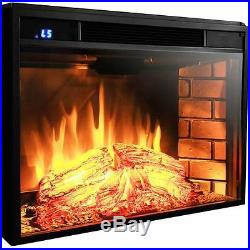 Large 28 1500W Heat Adjustable Freestanding Electric Fireplace Heater Insert