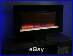 Large Wall Mounted Electric Fireplace Insert Mount Flame Heater Color Changing