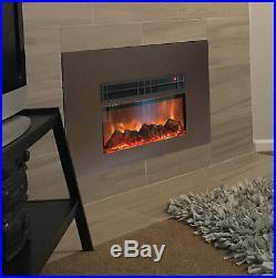 Latitude Run Lipman True Flame Wall Mounted Electric Fireplace Insert