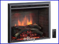 Loon Peak Armes 33 Black 750/1500W Western Wall Mount Electric Fireplace Insert