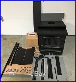 Lopi Revere Wood Burning Stove Fireplace Insert + Facia Trim & Electric Blower