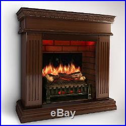 MagikFlame Realistic Electric Fireplace CHERRY with Sound Insert/Mantel + Heater
