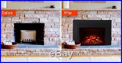 Majestic 30 Electric Fireplace Insert with Realistic Log Set & Remote Control