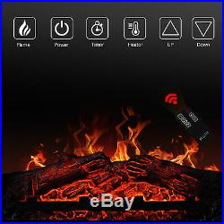 Manter With181400w Insert Electric Fireplace Stove & Remote Control, Dark Wood