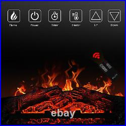 Manter With251400w Insert Electric Fireplace Stove & Remote Control, Dark Wood