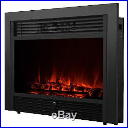 Mecor Embedded 28.5 Electric Insert Heater Fireplace Log Flame with Remote View