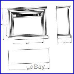Media Electric Fireplace TV Stand Heater Wood Console Infrared 20 Insert Mantel