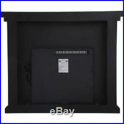 Mirrored Electric Fireplace Mantle Has Crystals Insert Living Room Bedroom 47.5