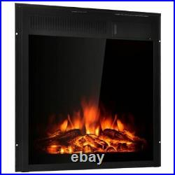 Modern 22.5 Electric Fireplace Insert Freestanding & Recessed Heater
