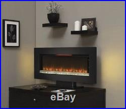Modern Electric Fireplace Wall Mount Heater Insert 4 Color Modes Thermostat 47in