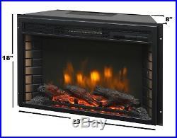 Muskoka 27 Glass Front Electric Heater Fireplace Insert Low Profile Firebox