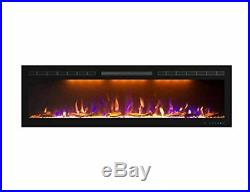 Mystflame 60 inch Fireplace Recessed, Insert and Wall Mounted Slimline Electric