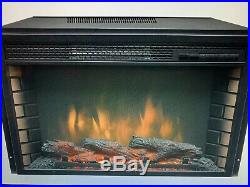 NEW 26 Electric Firebox Insert With Fan Heater And Glowing Logs For Fireplace