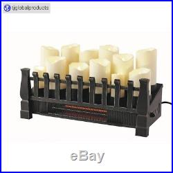 NEW Ornate Electric Candle Fireplace Insert, 20 In, Indoor Infrared Heater LED