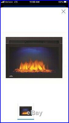 Napoleon Cinema Glass 24 Built-in Wall Electric Fireplace Insert Heater