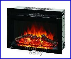 Napoleon Cinema Log 24 Built-in Wall Electric Fireplace Insert Heater