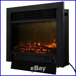 New 1500W 28.5 Electric Embedded Insert Log Flame Heater Fireplace With Remote
