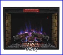 New ClassicFlame 33II310GRA 33 Infrared Quartz Fireplace Insert with Safer Plug