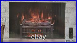 New Duraflame Electric FIREPLACE LOG INSERT Heater LED FLAME 5200 BTU with Remote