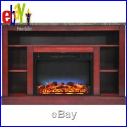 Oxford 47 In. Electric Fireplace With A Multi-Color Led Insert And Cherry Mantel