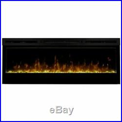 Pemberly Row 50 Wall Mount Electric Insert Fireplace in Black