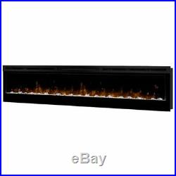 Pemberly Row 74 Wall Mount Electric Insert Fireplace in Black