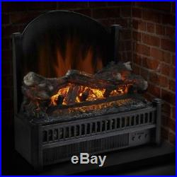 Pleasant Hearth 23 In. Electric Multi Flame Real Temp Control Fireplace Insert