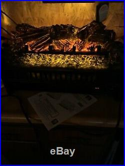 Pleasant Hearth Electric Fireplace Log set Insert With Fireback Remote Control