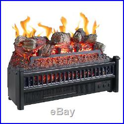 Pleasant Hearth Electric Log Insert with Heater Fireplace Logs Fake Wood Burning