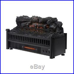 Pleasant Hearth Electric Log fireplace Insert Heater and remote