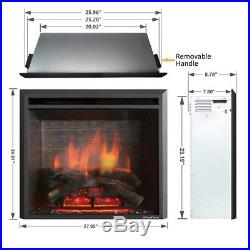 PuraFlame 26-inch Western Electric Fireplace Insert with Remote Control