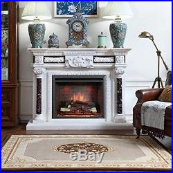 PuraFlame 30' Western Electric Fireplace Insert With Remote Control, 750/1500W