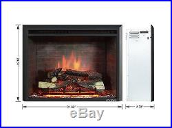 PuraFlame 30 Western Electric Fireplace Insert with Remote Control 750/1500W